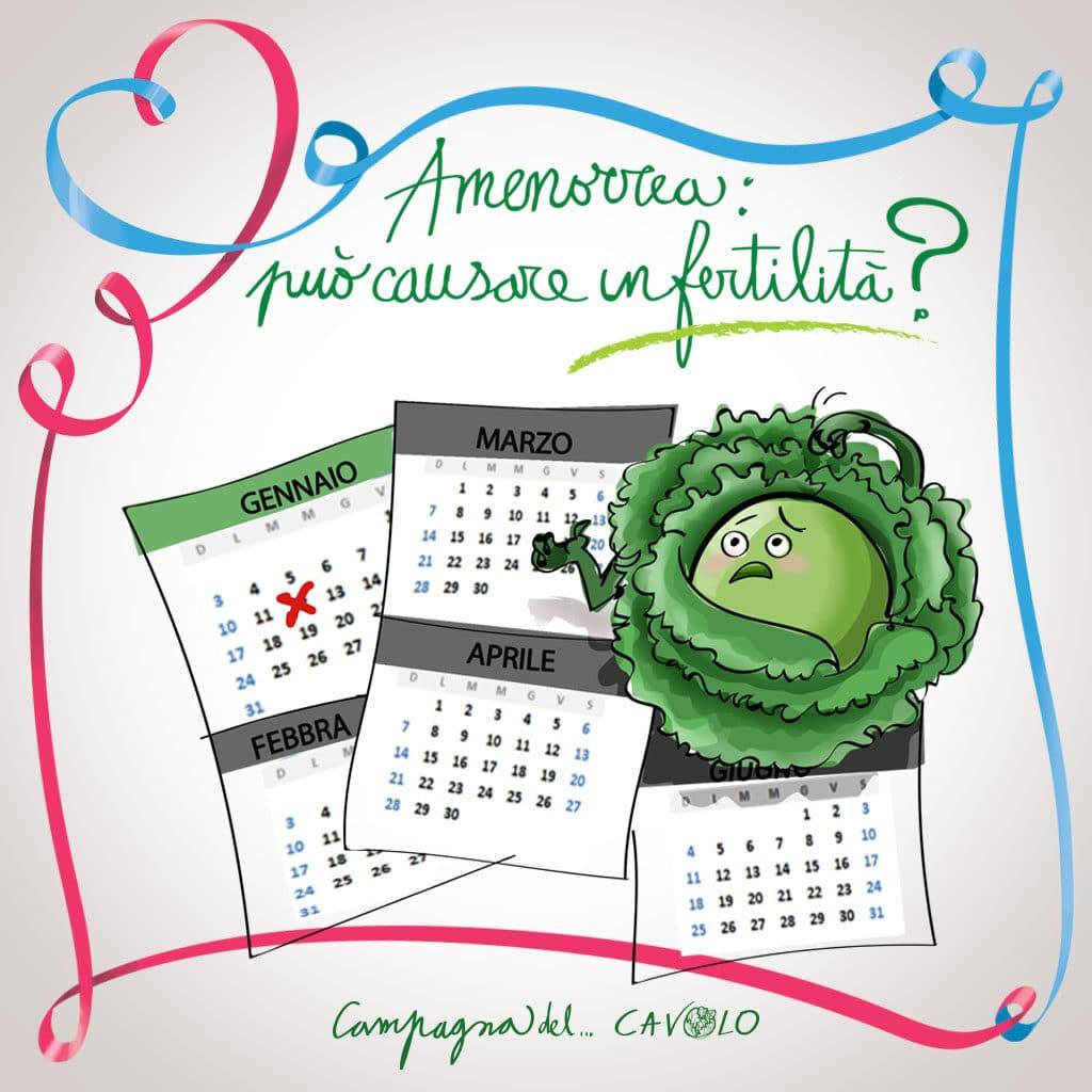 Amenorrea può essere causa di infertilità