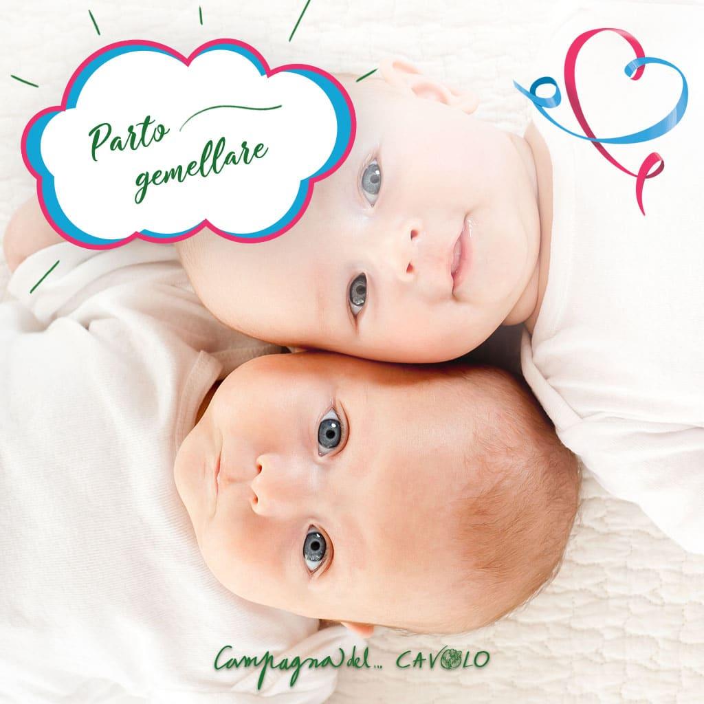 Rischi parto e gravidanza gemellare - Campagna del Cavolo