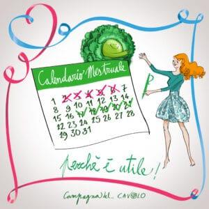 Calendario mestruale – Campagna del Cavolo